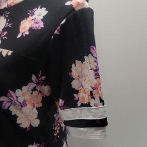 No comment Dresses - 《No Comment》T-Shirt Dress Floral Black Med. Jersey